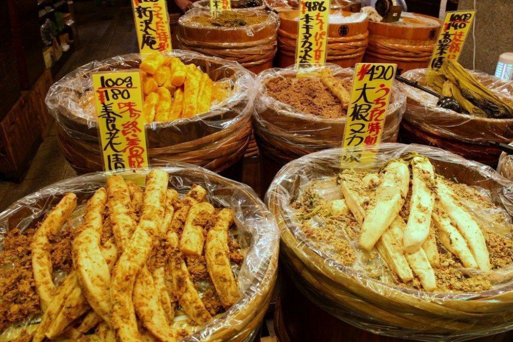 mercado Nishiki en Kioto