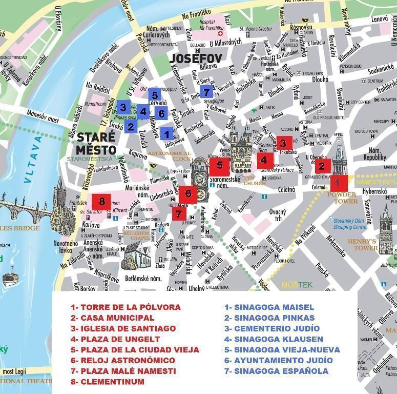 mapa de Praga