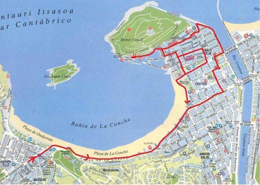 mapa San Sebastián