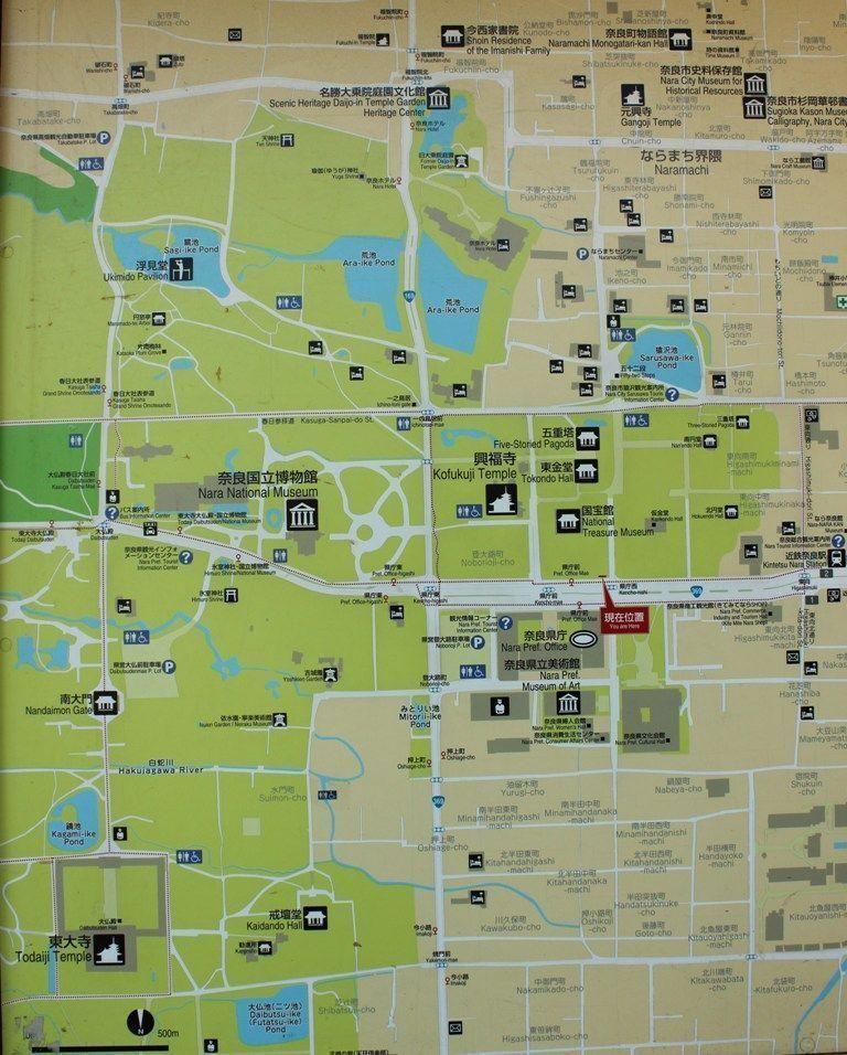mapa de Nara