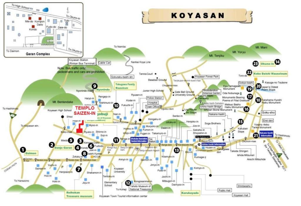 mapa de Koyasan