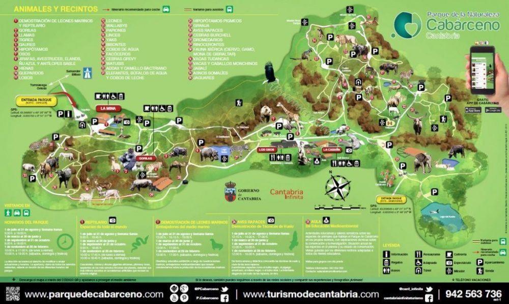 mapa de Cabárceno