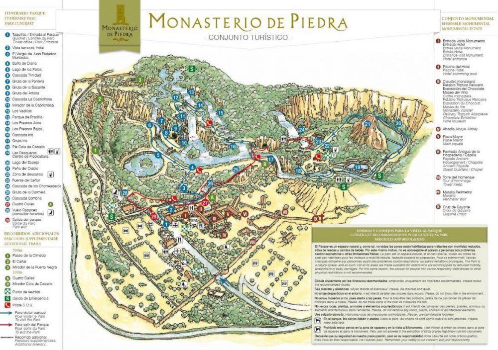 mapa monasterio de piedra